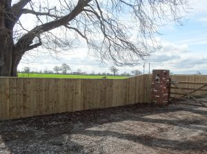 Domestic Timber Fencing Cheshire