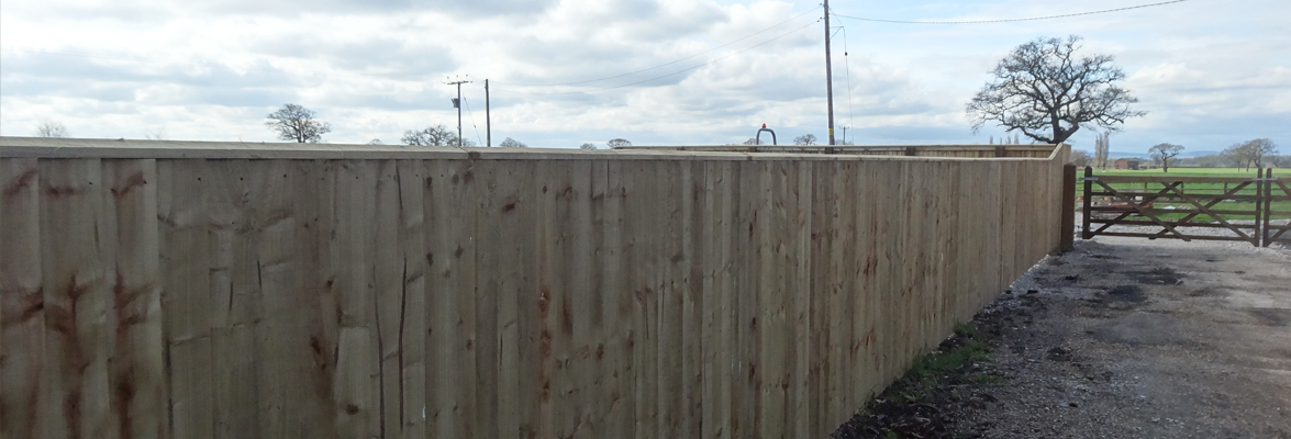 Feather Edge Panel Domestic Fencing Cheshire